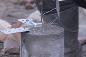 Вариант крепления обвязки с помощью крепежных уголков