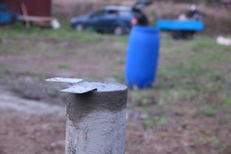 Фундамент на буронабиных сваях в п. Забородье